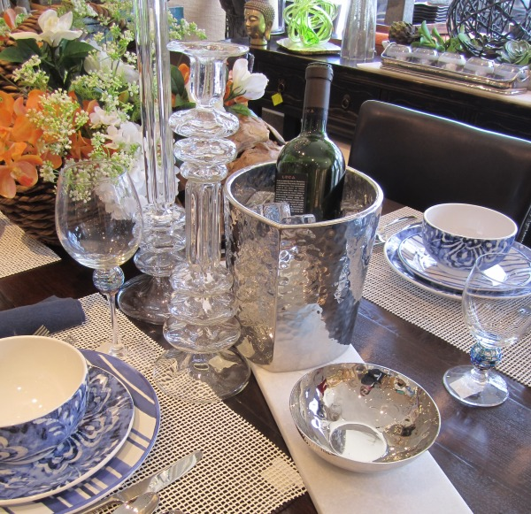 Table Setting Featuring Festiva Champagne Cooler