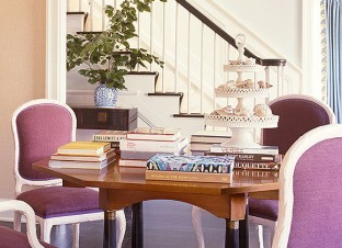 Pink orchid chairs