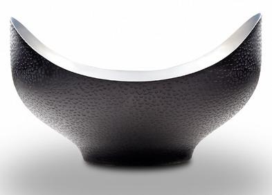 NST 002 - NorthStar Crescent Bowl wTextured Black Nickel 8 x 4¾